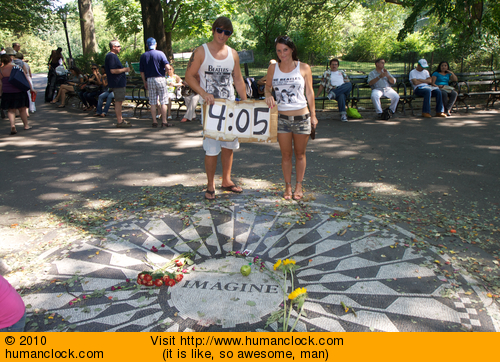 At Strawberry Fields, Central Park